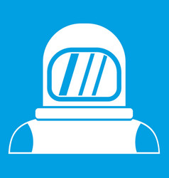 Astronaut icon white vector
