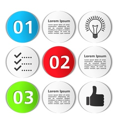 Design Template with Circles vector image vector image