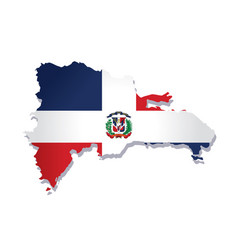 dominican republic flag amp map vector image