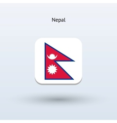 Nepal flag icon vector image