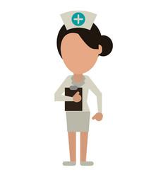 nurse work hospital clipboard vector image