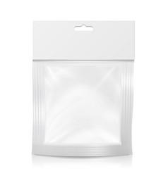 plastic pocket blank realistic mock up vector image