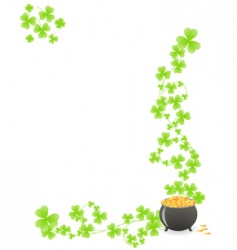st patricks pattern corner vector image