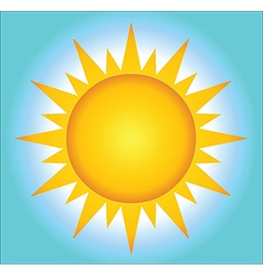 Summer Hot Sun With Background vector image vector image