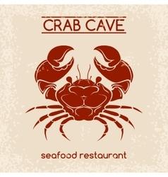 Crab seafood emblem template vector image vector image