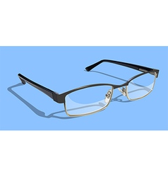 Glasses With Blue Background vector image vector image