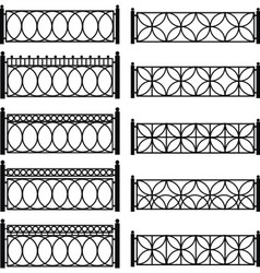 metal lattices vector image vector image