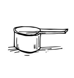 painted aluminum bucket vector image vector image
