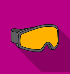 ski goggles icon in flate style isolated on white vector image vector image