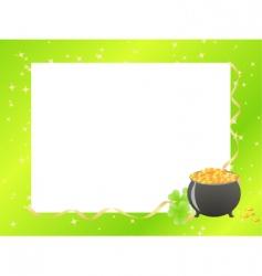 St Patrick's border vector image vector image