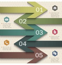 Trendy banner arrow design for infographics vector image