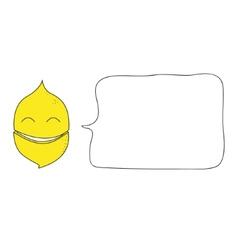 lemon with bubble vector image