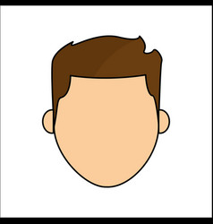 people avatar face men icon vector image