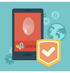 phone security vector image vector image