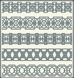Set of seamless vintage borders in the form of vector image vector image