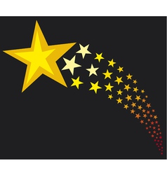 Shooting stars vector image vector image