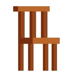 Wood chair isolated vector image