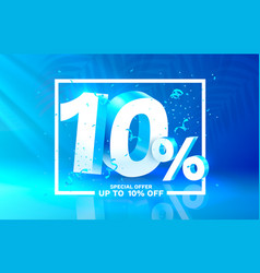 10 off discount creative composition 3d sale vector