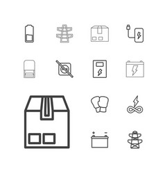 13 supply icons vector