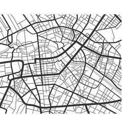 Abstract city navigation map with lines and vector