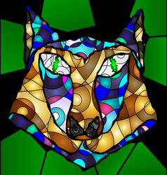 Abstract head of wolf vector