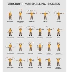 Aircraft marshalling signals vector image