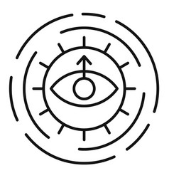 alchemy sun eye icon outline style vector image