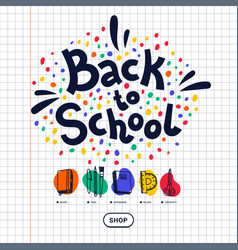 back to school stationery shop template vector image