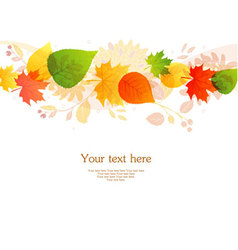 backgr autumn leafs vector image
