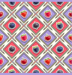 berry seamless pattern vector image