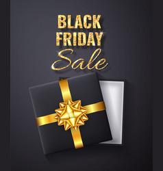 Black friday sale golden glitter sparkleopen vector