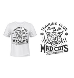 bobcat or lynx mascot t-shirt print sport club vector image
