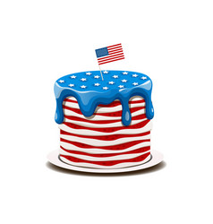 cake in colors american flag vector image