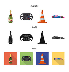 Car and rally icon set of vector