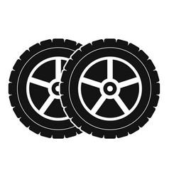 Car tyre icon simple style vector