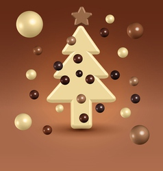 Chocolate christmas tree decorations vector image