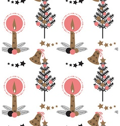 Christmas Candle pattern vector image