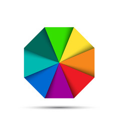 Color octagonal palette vector