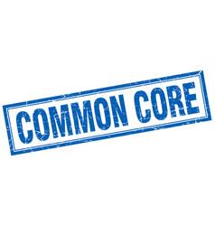 common core square stamp vector image