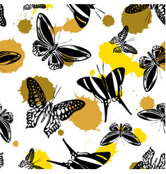 cool seamless butterfly kite background vector image