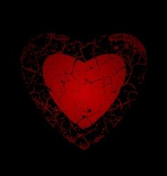 Cracked heart vector