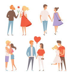dating couples st valentine day 14 february vector image