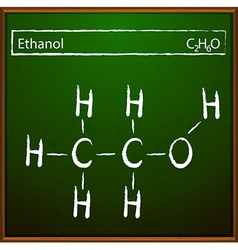 Ethanol molecular formula vector
