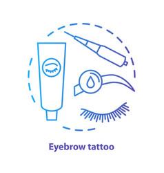 Eyebrow tattoo blue concept icon eye brows vector