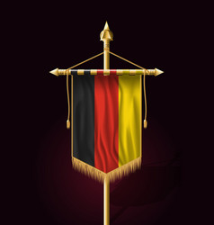 Flag of germany festive vertical banner wall vector