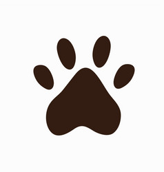 flat design paw print icon stock vector image