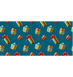 Gifts seamless pattern background for christmas vector