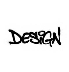 Graffiti sprayed design word in black over white vector