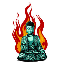 hand drawn buddha isolated vector image