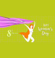 happy international womens day celebration banner vector image